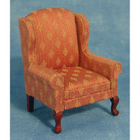 Wing Back Armchair for Dolls House