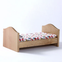 Childs Pine Single Bed for Dolls House
