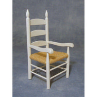 12th Scale White Carver Chair