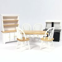 White Dolls House Kitchen Set