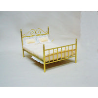 Brass Double Bed for Dolls House