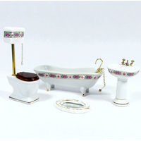Deluxe Bathroom Set with Pink Design