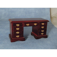 Dolls House Kneehole Mahogany Desk