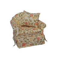 Floral Comfy Armchair for Dolls House