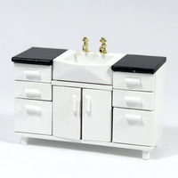 Modern Dolls House Bathroom Sink Unit