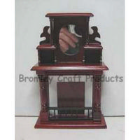 Mahogany Fireplace with Mirror