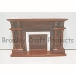 Large Mahogany Dolls House Fireplace