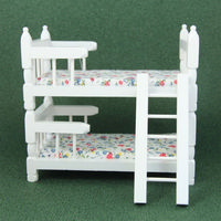 White Painted Dolls House Bunk Beds