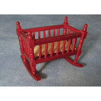 Miniature Rocking Crib (Cot) - Mahogany