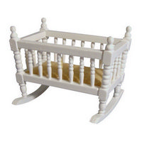 Miniature Rocking Crib (Cot) - White