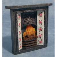 Victorian Style Fireplace with Fire