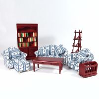 Deluxe Dolls House Living Room Set