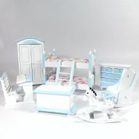 Bedroom Set with Bunk Beds - Blue