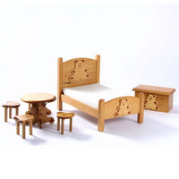 Childs Teddy Bear Bedroom Furniture Set