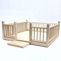 Wooden Garden Decking Kit - 1:12 Scale