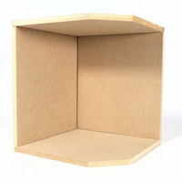 Small Corner Room Box Kit - 1:12 Scale