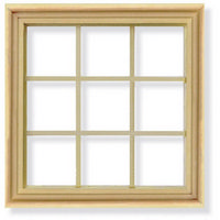 9 Pane Window Frame for 1:12 Scale Dolls House