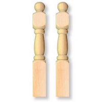 Staircase Newel Posts x2 for 1:12 Scale Dolls House