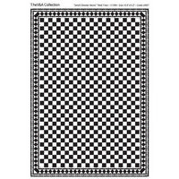 Black & White 'Small Checker' Tile Sheet