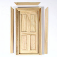 Wooden Cottage Interior Door (Small) - 4 Panel