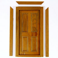 Cottage Interior Door - 4 Panel (Walnut Finish)