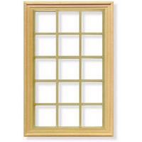 15 Pane Window Frame for 1:12 Scale Dolls House