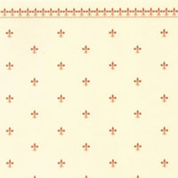 Fleur de Lys Dolls House Wallpaper - Gold / Ivory