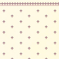 Fleur de Lys Dolls House Wallpaper - Burgundy / Ivory