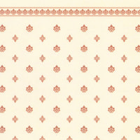 Garden Crest Dolls House Wallpaper - Gold and Ivory