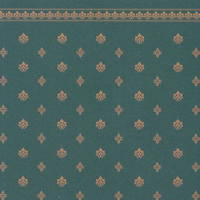 Garden Crest Dolls House Wallpaper - Green