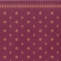Garden Crest Dolls House Wallpaper - Red
