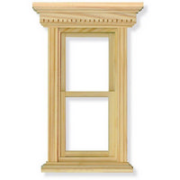 Opening Sash Window Frame for 1:12 Scale Dolls House