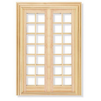 French Doors / Windows for 1:12 Scale Dolls House