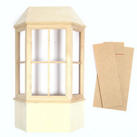 Dolls House Bay Window with Roof - 1:12 Scale