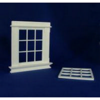 Georgian 9 Pane Window (Plastic) 1:12 scale
