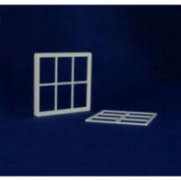 6 Pane Window Frame (Plastic) 1:12 scale