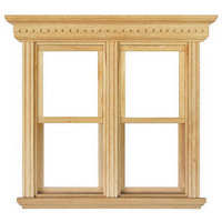 Opening Double Sash Window Frame - 1:12 Scale