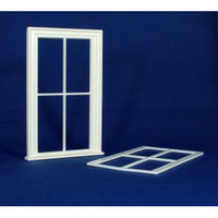 Victorian Large 4 Pane Window (Plastic) 1:12 scale