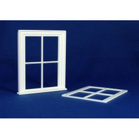 Victorian Small 4 Pane Window (Plastic) 1:12 scale
