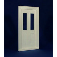 Victorian Front Door with Clear Glass (Plastic) 1:12 scale