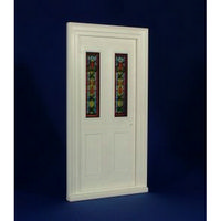 Victorian Front Door with Stained Glass (Plastic) 1:12 scale