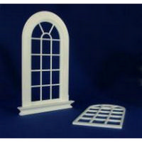Georgian 16 Pane Arched Top Window (Plastic) 1:12 scale