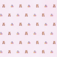 Block & Bear Nursery Wallpaper - Pink