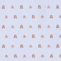 Block & Bear Nursery Wallpaper - Blue