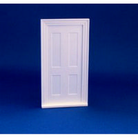 Victorian 4 Panel Front Door (Plastic) 1:24 scale
