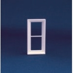 Victorian 2 Pane Window Frame (Plastic) 1:24 scale