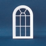 Victorian 10 Pane Arched Top Window (Plastic) 1:24 scale