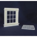 Georgian 9 Pane Window Frame (Plastic) 1:24 scale