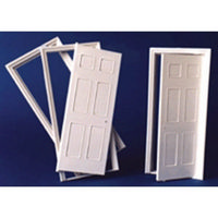 Georgian 6 Panel Interior Door (Plastic) 1:24 scale