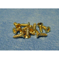 Small Brass Coloured Screws x12